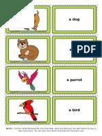 Pets Esl Vocabulary Game Cards for Kids