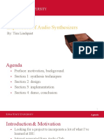 exploration of audio synthesizers presentation small