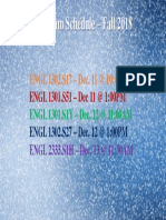 Dates for Final Exam