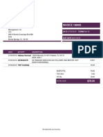 Invoice 189305 From Action Appliance Service