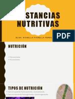 Sustancias nutritivas