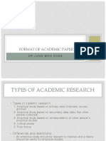 7 Format of Academic Paper