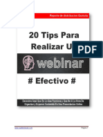 20 Tips Para Realizar Webinars Efectivos