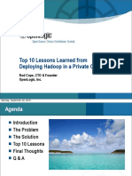 Top 10 Lessons Learned from Deploying Hadoop in a Private Cloud