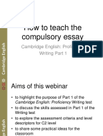 How to Teach the Compulsory Essay in Slides