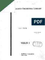 Debussy, Claude - La Mer Violino 1