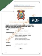 REGLAMENTO DE CONCILIACION DEL CENTRO DE CONCILIACION Y ARBITRAJE DEL MINISTERIO DE TRABAJO ___