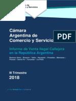 Venta Ilegal Nacional. 3er Trimestre. CAC 2018