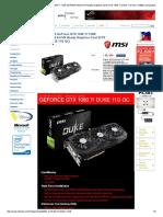 Msi Gaming Gefroce Gtx 1080 Ti 11gb Gdr..