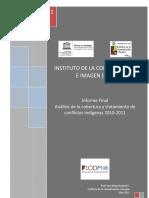 Análisis de la cobertura y tratamiento de conflictos indígenas 2010-2011 - Labrin