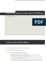 Introduction to Report Writing