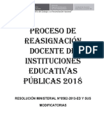 Proceso de Reasignacion 2018