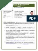 resumen curricular alexander castro 72188284