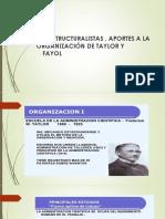 Los Estructuralistas, Taylor y Fayol