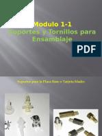 Tornillos y soportes para el ensamblaje de CPUs