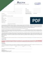 Sky Debit Order Authorisation