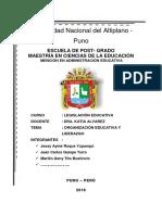 1 Liderazgo Educativo y Organizacional.