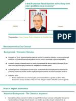 macroeconomics debate final - keynes fiscal stimulus presentation