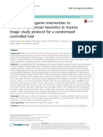 Testing a Videogame Intervention to Recalibrate Physician Heuristics in Trauma Triage - Study Protocol for a Randomized Controlled Trial