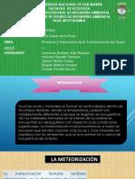 Procesos y Fenómenos Físicos de La Formación Del Suelo