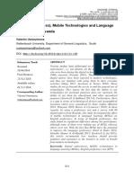 1. Digital Native (Ness), Mobile Technologies and Language Proficiency in Rwanda