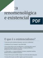 Slides Introdução Fenomenologia e Existencialismo