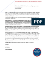 AFOIA Request Template for a Law Enforcement Agency