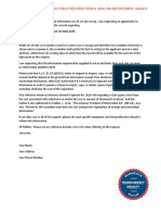 AFOIA Request Template for a non law enforceement agency