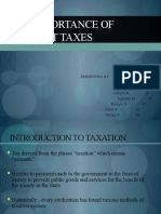 Importance of Indirect Taxes