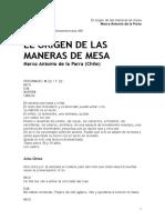 El Origen de Las Maneras de La Mesa - Griselda Gambaro