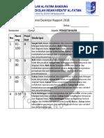Format Deskripsi MTK Kelas 7