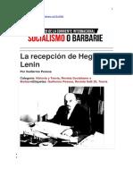 Pessoa, Guillermo - La recepción de Hegel por Lenin