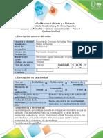 Guia de Actividades y Rubrica de Evaluación - Paso 5 - Evaluación Final