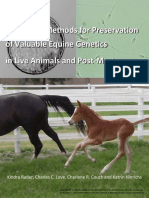Manual of Methods for Preservation of Valuable Equine Genetics