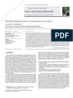 Recycling utilization patterns of coal mining waste in China.pdf