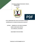 Realidad y Factibilidad Del Uso de Los Sorfware Contable en Empresas de La Ciudad de Guadalupe Del Año 2017