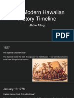 early modern hawaiian history timeline