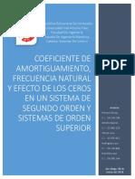 COEFICIENTE DE AMORTIGUAMIENTO, FRECUENCIA NATURAL Y EFECTO DE LOS CEROS EN UN SISTEMAS DE SEGUNDO ORDEN Y EN SISTEMAS DE ORDEN SUPERIOR.pdf