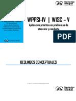 WPPSI-IV y WISC-V. Atencion y Conducta. Ps. Hugo Rodriguez