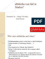 Why Subhiksha Was Fail in Indian Market