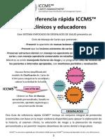 GUÍA DE REFERENCIA RÁPIDA ICCMS PARA CLÍNICOS Y EDUCADORES