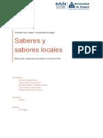 Semestre Paz y Región –Saberes y Sabores Locales