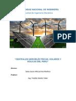1.Monografía Centrales Hidroeléctricas, Plantas Solares y Eólicas