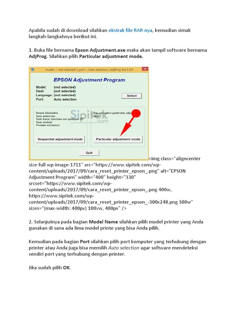 REset Epson l360