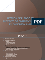 Lectura de Planos de Proyecto de Cimentacion en Concreto Simple Final