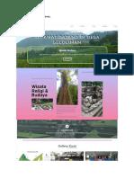 Mockup Website Desa Seloliman