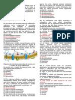 Membrana plasmática - Questões - Prof. Adão Marcos Graciano Dos Santos