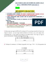 Practica Calificada Domiciliaria de Diseño en Acero 2018-II Segunda Parte
