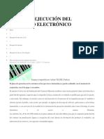 Plazo de Ejecución Del Contrato Electrónico