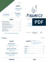 Pikunico Menu